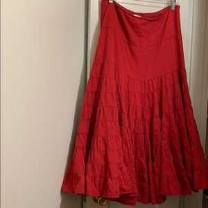 💃Red Flamenco style fully lined long skirt💃